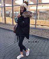 Женская зимняя куртка -парка с мехом