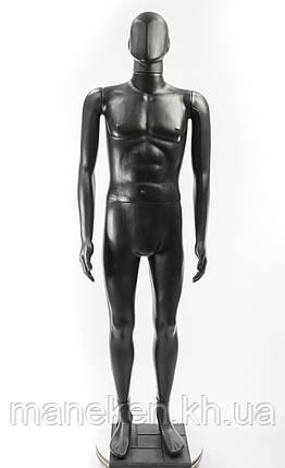 """Манекен мужской TREMVERY """"Сенсей"""" K2 черный (201) PN3 с подставкой, фото 2"""