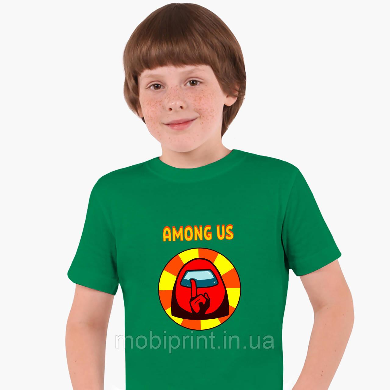 Дитяча футболка для хлопчиків Амонг Червоний Ас (Among Us Red) (25186-2412-2) Зелений