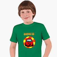 Дитяча футболка для хлопчиків Амонг Червоний Ас (Among Us Red) (25186-2412-2) Зелений, фото 1