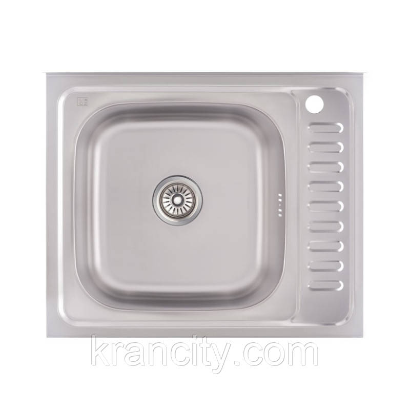 Кухонная мойка Lidz 6050-L Decor 0,6 мм (LIDZ6050L06DEC)