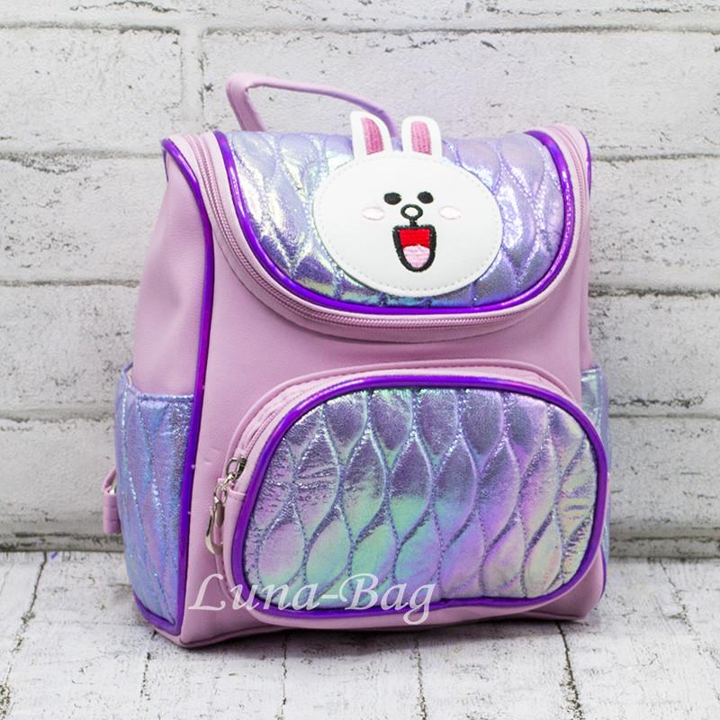 """Детский перламутровый рюкзак """"Зайчик""""  3 Цвета Фиолетовый"""