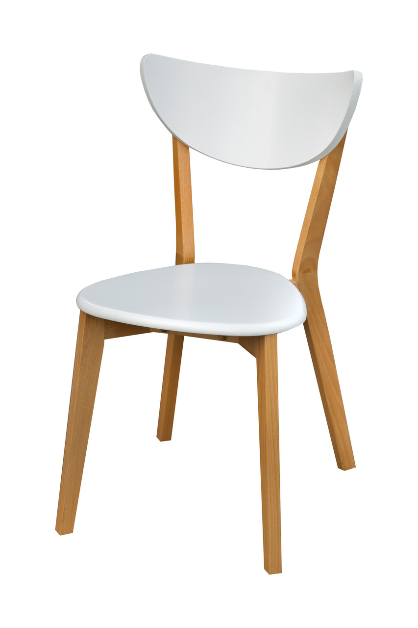 Стул обеденный деревянный Модерн бук/белый