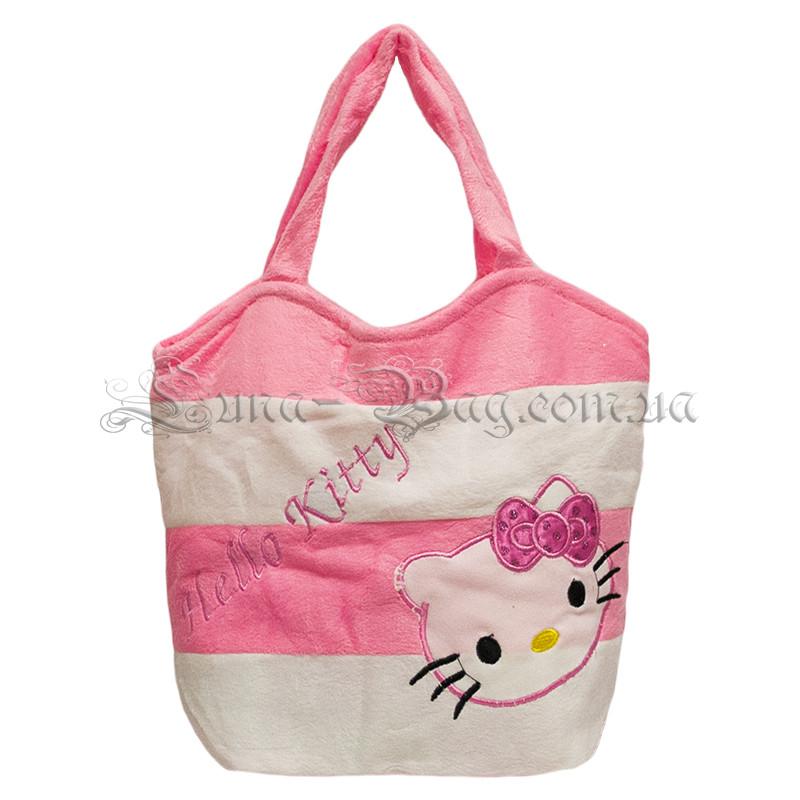 Детская мягкая сумка с рисунком (Hello Kitty) 2 Цвета Розовый