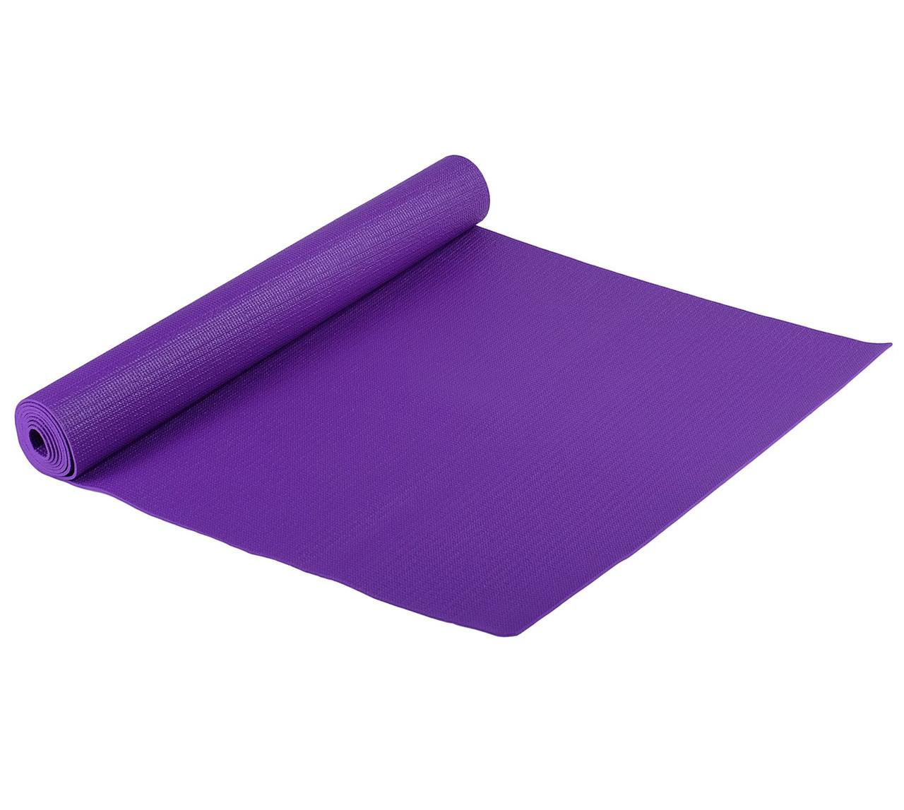 Классический многофункциональный коврик для йоги MS 1846-1 Фиолетовый   йогамат   йога мат  коврик для фитнеса