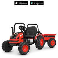 Детский трактор с прицепом электромобиль