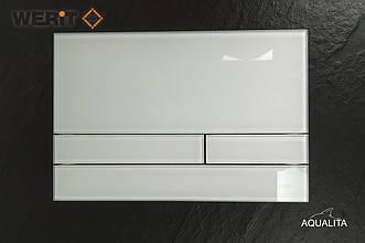 Біла глянцева скляна кнопка змиву серії Exclusive для інсталяцій Werit