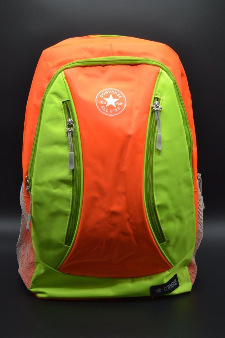 """Спортивный Рюкзак """"CONVERSE ALL STAR"""" Цвет оранжевый с зеленым."""