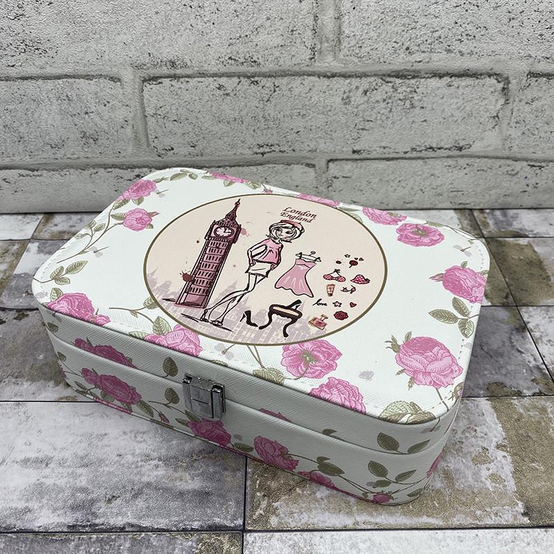"""Вместительная шкатулка для украшений с рисунком """"London"""""""