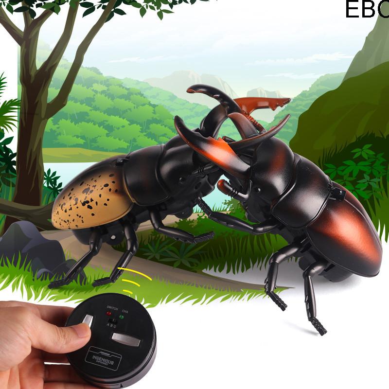 Радиоуправляемый жук Олень 9996-F | игрушка на радиоуправлении | насекомые для детей