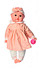 Пупс игрушечный в розовой одежде с бутылочкой M 3887 UA LIMO TOY мягконабивной, музыкально-звуковой   куколка, фото 2