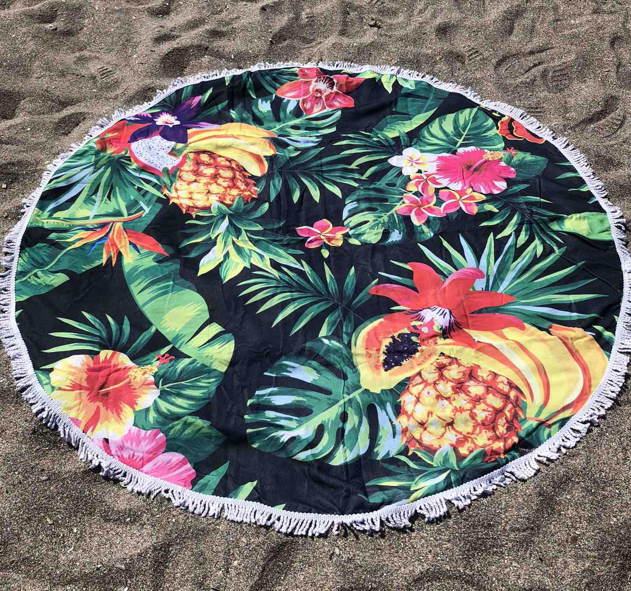 Пляжное покрывало с ярким принтом Tropical fruits