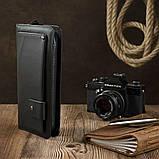 Клатч мужской с ремнем Vintage 14664 Черный, фото 3