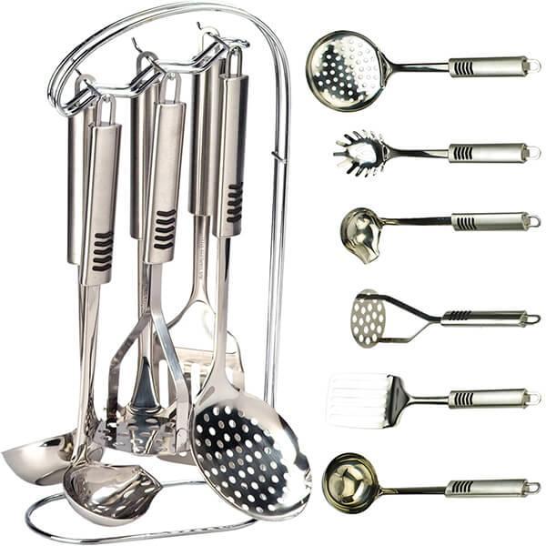 Кухонный набор из 7 предметов Maestro MR-1543   лопатка   соусник   половник   шумовка   картофелемялка