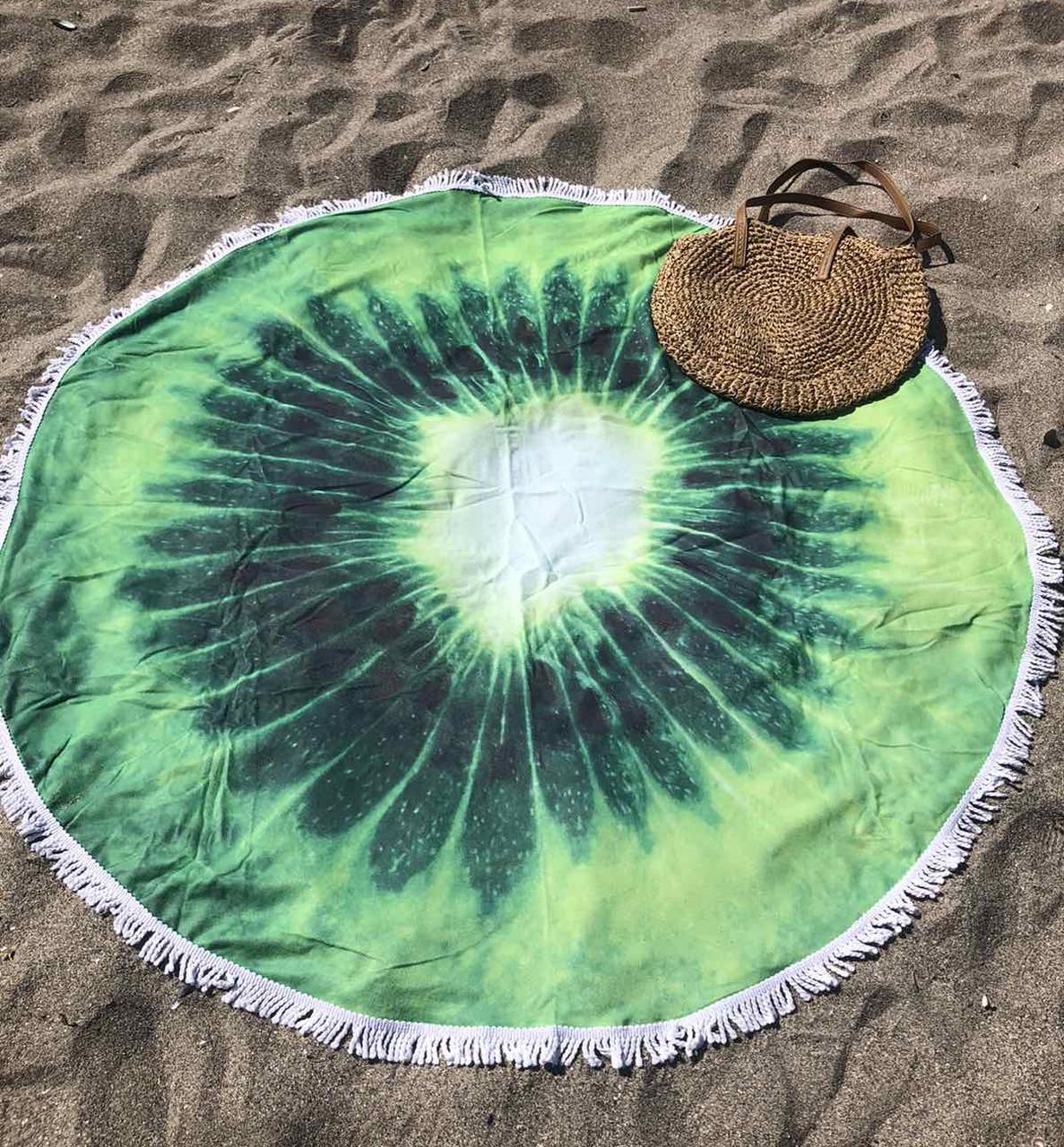 Пляжное покрывало с ярким принтом Kiwi