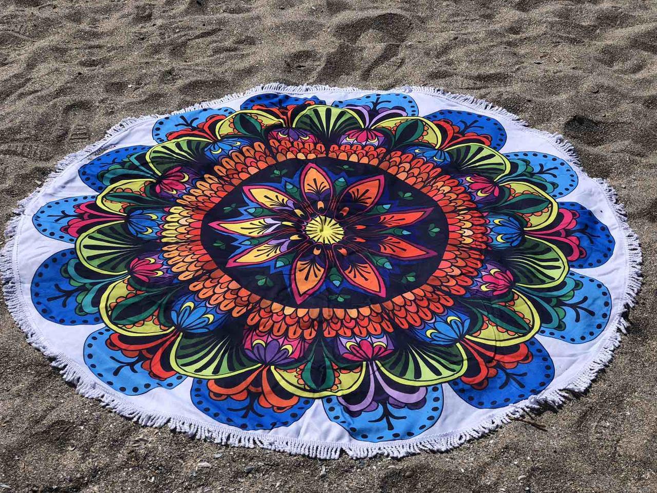 Пляжное покрывало с ярким принтом bright pattern