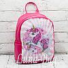 Детский рюкзак перевертыш с пайетками Lol/Unicorn.Цвет:Малиновый  2, фото 2