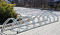 Велопарковка на 9 велосипедов Echo-9 inox нержавеющая сталь Польша, фото 1