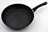 Сковорода с антипригарным мраморным покрытием с крышкой Benson BN-341 (26 см) | сковородка Бенсон, фото 3