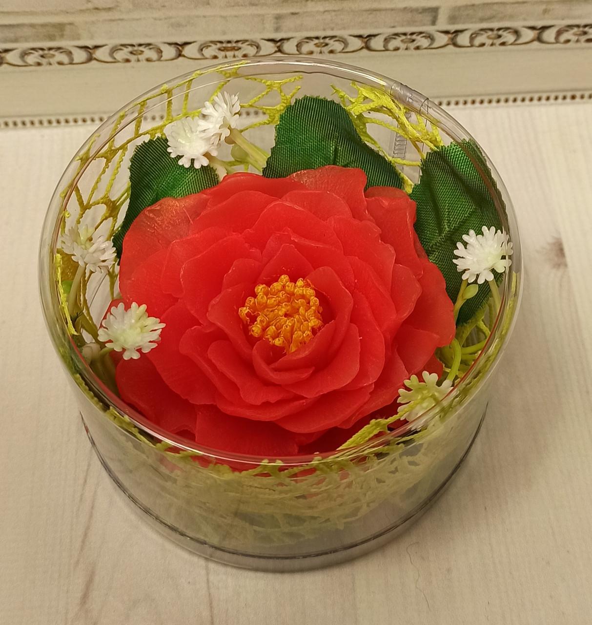 """Подарочное мыло """"Роза красная"""""""