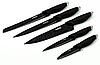 Набор ножей Benson BN-409 из нержавеющей стали на магнитной подставке (5 пр) | кухонный нож | ножи Бенсон, фото 2