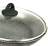 Сковорода Benson BN-492 с антипригарным мраморным покрытием с крышкой (26 см) | сковородка Бенсон, фото 2