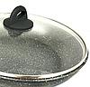 Сковорода Benson BN-493 с антипригарным мраморным покрытием с крышкой (28 см) | сковородка Бенсон, фото 2