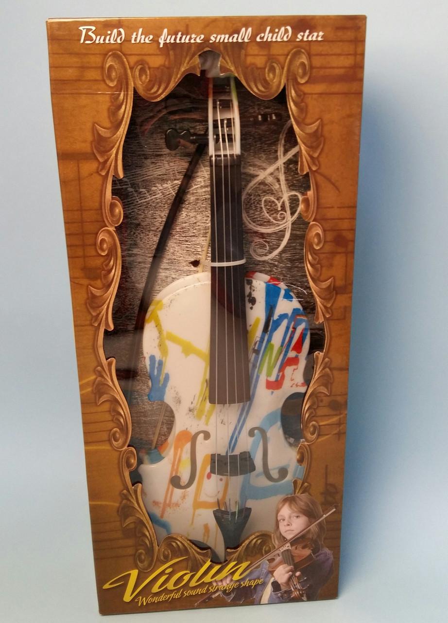 Скрипка 44см, струны 4шт, смычок, Q615A55 в коробке, 46-20-7см