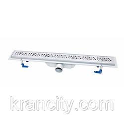 Трап лінійний Qtap Dry FC304-600 з нержавіючої сіткою 600х73