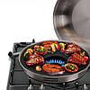 Сковорода гриль-газ Benson BN-801 с эмалированным покрытием | сковородка для гриля на газу эмаль Бенсон, фото 3