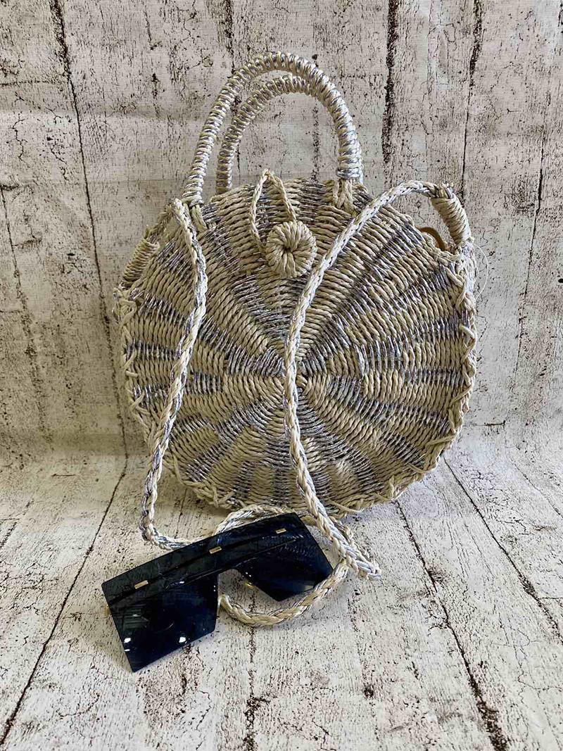 Женская плетеная сумка  2 Цвета : Светлый