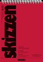 Скетчбук А6 Brunnen верхняя спираль обложка красная 110 г м2, 30 листов 1047650, КОД: 1931379