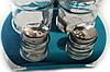 Набор соль/перец Benson BN-1021 | набор для специй на подставке | солонка и перечница Бенсон, фото 5