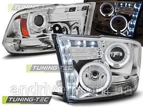 Передні фари Dodge RAM (2009-2011) тюнінговані (ЦІНА ЗА ПАРУ)