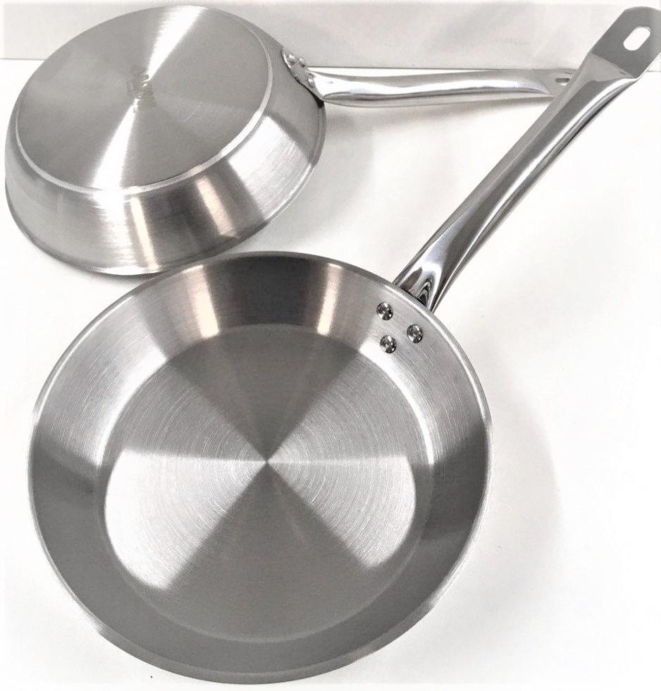 Сковорода Benson BN-638 из нержавеющей стали (30 см) | металлический сотейник Бенсон | хорика Бэнсон