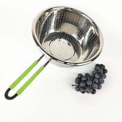 Дуршлаг Benson BN-647 28 см из нержавеющей стали | друшлаг для мытья овощей и фруктов Бенсон | друшлак Бэнсон