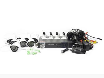 Набор камер видеонаблюдения AHD Security Recording System 8CH | камера наблюдения