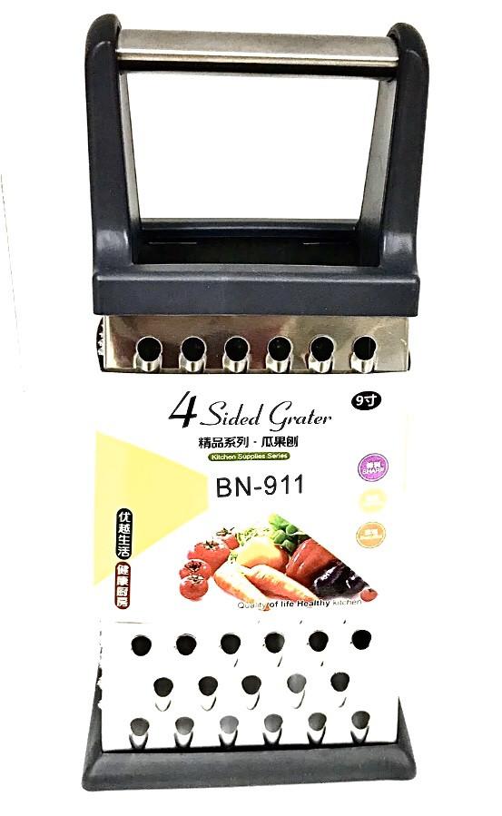 Тёрка Benson BN-911 из нержавеющей стали 4 стороны | шинковка | кухонная терка из нержавейки Бенсон, Бэнсон