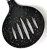 Шумовка силиконовая Benson BN-937 с деревянной ручкой | столовые приборы | кухонные ложки | ложка силикон, фото 3