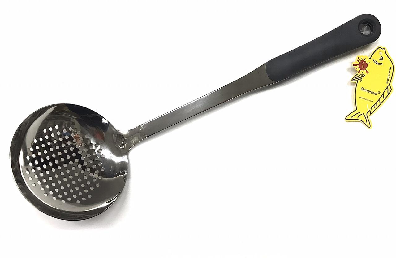 Шумовка из нержавеющей стали Benson BN-949 | столовые приборы | кухонные ложки | ложка из нержавейки