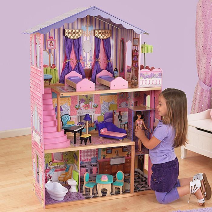 Кукольный домик  для Барби AVKO Вилла Магнолия лифт + кукла