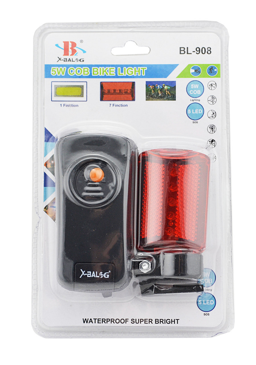 Велосипедный фонарь Bailong BL-908 (передний и задний) | велофонарь