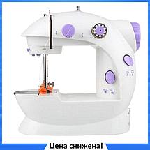 Швейная машинка портативная Mini Sewing Machine SM-202A - Мини швейная машина с адаптером, фото 3