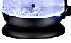 Скляний електрочайник KB-2028 чорний (1.7 л)   електричний чайник   кавоварка з підсвічуванням, фото 4