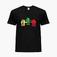 Детская футболка для мальчиков Амонг Ас (Among Us) (25186-2425-2) Черный