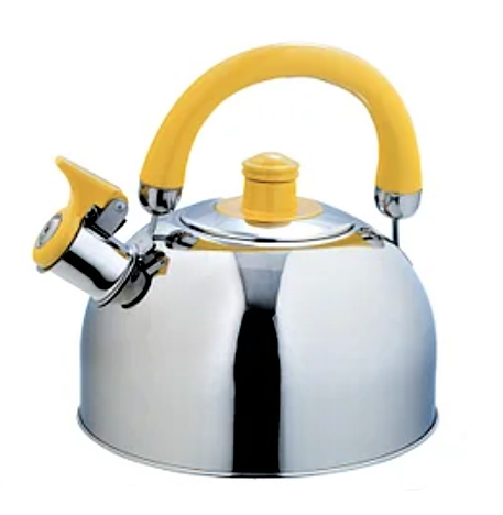 Чайник со свистком из нержавеющей стали Maestro MR-1304 (2.5л) жёлтый | металлический чайник Маэстро, Маестро