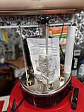 Электрошашлычница Помощница 8 шампуров + таймер+ запасная колба, фото 4