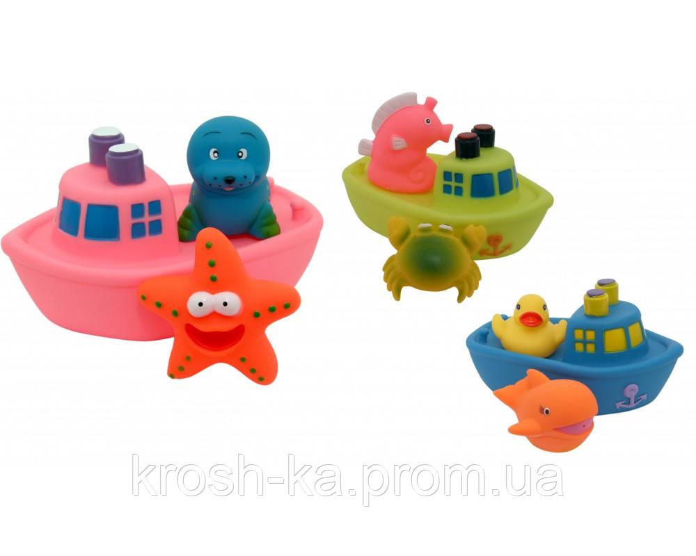 Игрушки для ванной Корабль друзей 10м+ Baby Team 9000