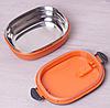 Ланч-бокс Benson BN-044 (700 мл) оранжевый | контейнер для еды Бенсон | ланчбокс Бэнсон, фото 6