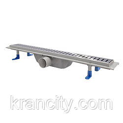 Трап лінійний Q-tap Dry FA304-600 з нержавіючої сіткою 600х73